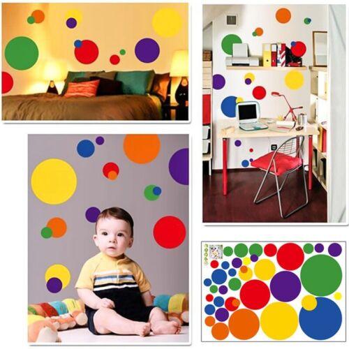 Gepunktet Bunt Wandaufkleber Kind Kinder Art Dekor Punkte Kreis Zuhause cRUWK