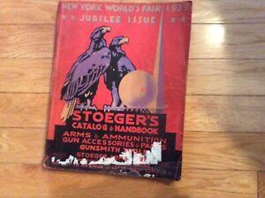 Original Stoeger's  1939 N.Y. World's Fair Jubilee Issue Catalog & Handbook No31