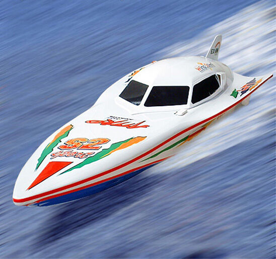 NEW  R C Remote Radio Controlled Syma White Stealth RC FAST Racing Speedboat