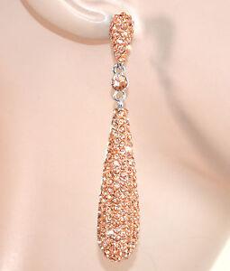 ORECCHINI-ARGENTO-CORALLO-donna-strass-cristalli-pendenti-cerimonia-eleganti-E59