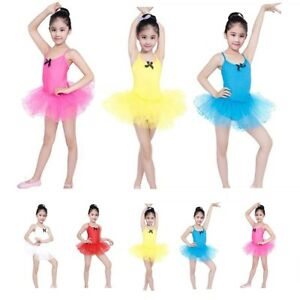 f60f6fc3d Image is loading Children-Girls-Dancewear-Ballet-Dance-Tutu-Tulle-Party-
