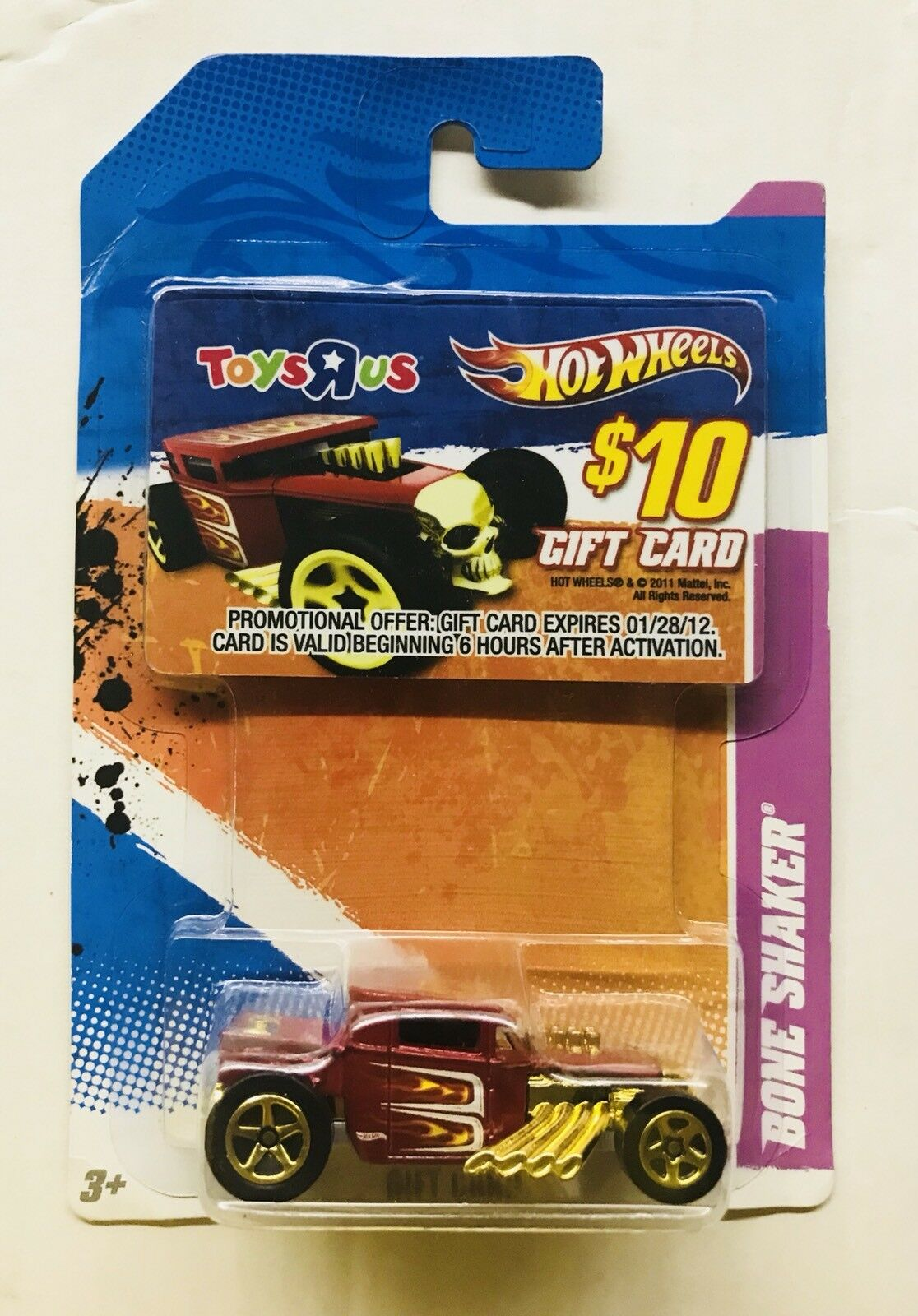 Hot Wheels Bone Shaker Boneshaker Toys R Us Tru Exclusivo Tarjeta De Regalo Promo T Hunt