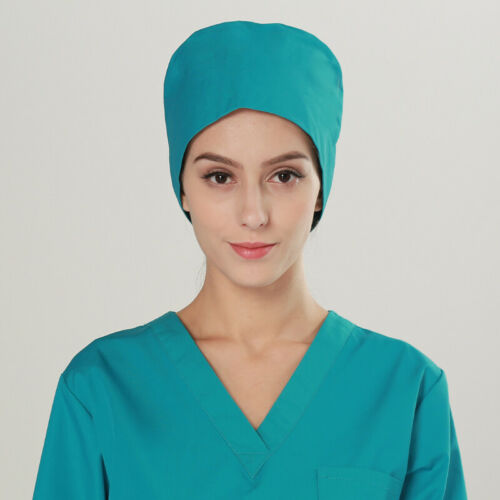 Men Women Doctor Nurses Hat Printing Scrub Medical Surgical Surgery Beauty Cap