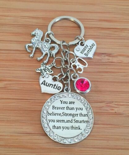 Personalised BIRTHDAY Gift Horse keyring for Mum Friend Daughter Sister Nanny