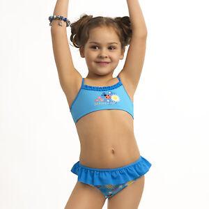 USA billig verkaufen Discounter neue auswahl Details zu ESLI Bademode Kinder Bikini-Set für Mädchen 98 - 104, 110 - 116,  122 - 128 Blau