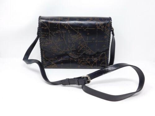 Patricia Nash Leather Sarola Crossbody BLACK/MAP P