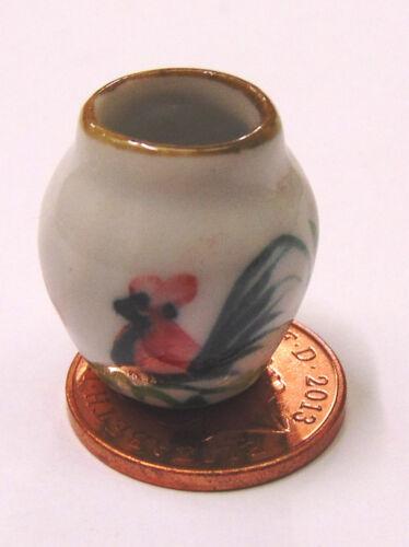 Escala 1:12 2.1cm Cerámica Gallito Florero tumdee Ornamento De Casa De Muñecas Flor C49