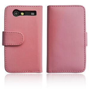 Samsung-Galaxy-Advance-S-Hulle-Tasche-Wallet-Case-Schutz-Hulle-Etui-Cover-pink