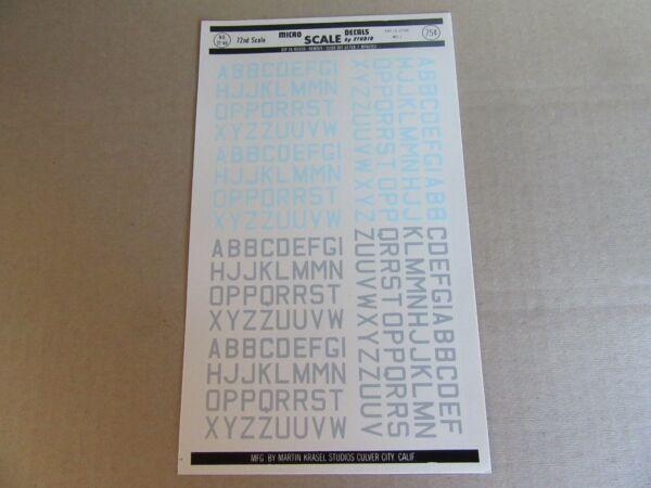 188k Microscale Decals 72-46 Insigne Raf Id Lettres Med 2 Gris Bleu 1:72 à Distribuer Partout Dans Le Monde