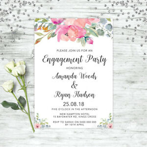 ENGAGEMENT-INVITATIONS-WATERCOLOUR-FLORAL-WEDDING-INVITE-PARTY-SUPPLIES-INVITES