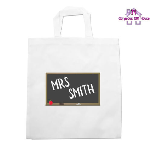 Best Teacher Gift Personalised Teacher Name Blackboard Tote Bag Teacher Gift