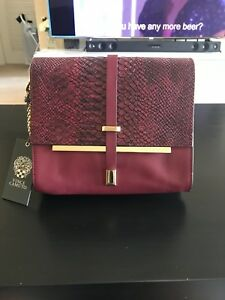 Image Is Loading Vince Camuto 039 Leila Cabernet Leather Flap