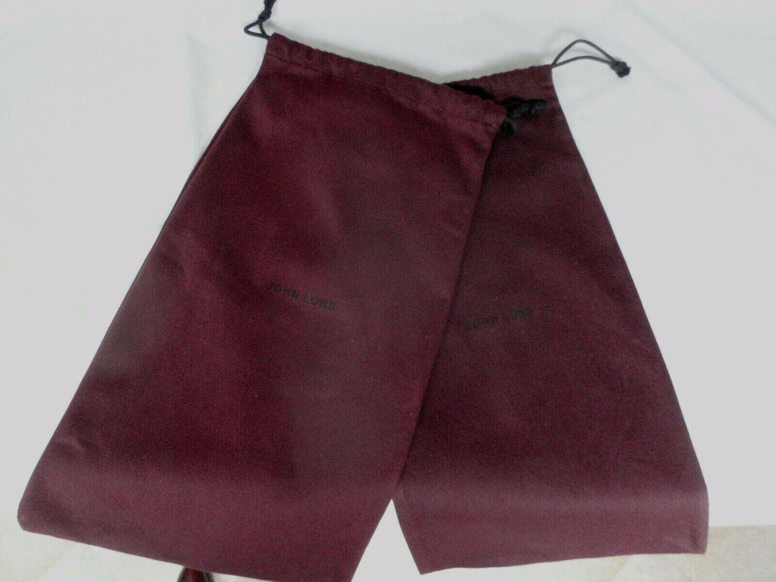NEW. JOHN LOBB Bootmaker Russet (Red) Cotton Shoe Dustbags Sleeper Bags 1 pair