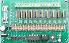 LED lights chaser flasher,  2 to 10 Circuit, 8 A./C. 8 to 24 VDC  (12V or 24 V)