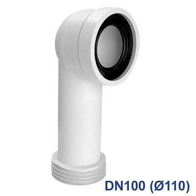 WC Anschluss Verbindung Toilette Abfluß Anschlussgarnitur HT-Rohr Abfluss Ablauf