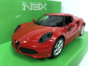 Alfa-Romeo-4C-Rouge-1-24-27-Echelle-Welly-24048R-Neuf-Emballe