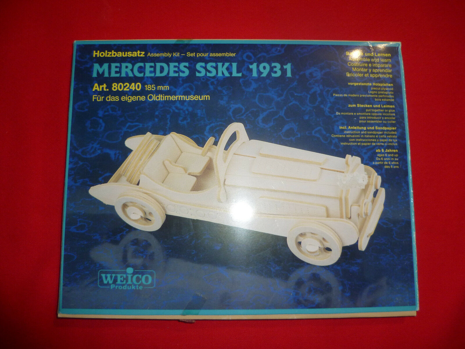 Mercedes WEICO SSKL 1931 Assembly Kit 80240 Legno wood