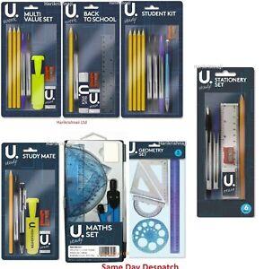 Back-to-School-Value-Stationery-Kit-Student-Office-Pencil-Eraser-Glue-Ruler-Set