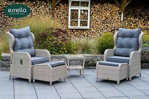 Essella Polyrattan Lounge Sessel Hochlehner Garten Stuhl Sitzgruppe