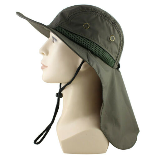 Boonie Hat Unisex Outdoor Camping Hunting Cap UV Protection Hat With Neck Flap