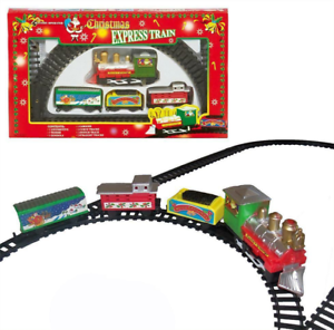 Details about Christmas - Express Train Set & Track - Battery Operated - 9  Piece - 3 Yrs+