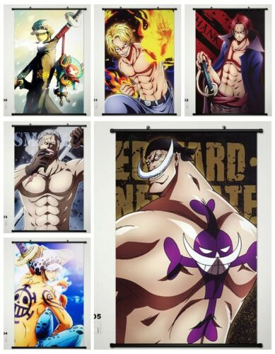 NEW One Piece Luffy Law Wall Poster Wallscroll Stoffposter Home Decor 45x68CM