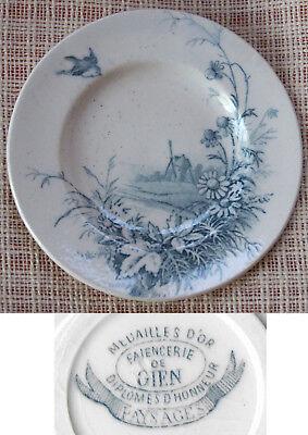 Bello Dinette Faience De Gien Série Paysages Assiette Plate à Dessert Acquista One Give One