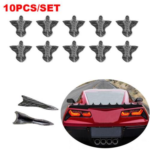 10xRoof Shark Flossen Diffusor Spoiler Dachflügel Vortex Generator für VW BMW