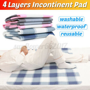 Washable-Waterproof-Incontinence-Bed-Pee-Pad-Elderly-Mattress-Protector-Soft-Mat