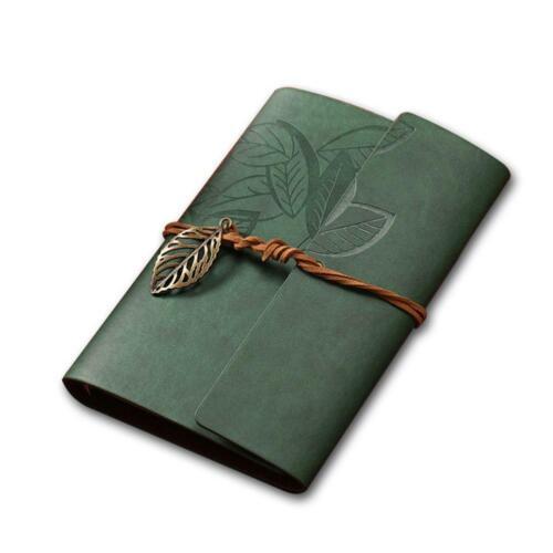 Retro-Leder-Weinlese Saiten Blatt Blank Tagebuch-Notizbuch Journal Skizzen KS
