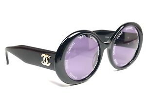 VINTAGE-RARE-1993-RUNWAY-CHANEL-CAMERA-LENS-BLACK-FRAME-90-039-S-MADE-IN-ITALY