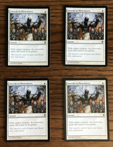 Swords to Plowshares   Conspiracy   MTG Magic the Gathering Near Mint **4**