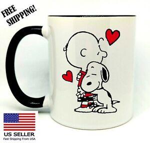 Snoopy-and-Friend-Birthday-Christmas-Gift-Black-Mug-11-oz-Coffee-Tea
