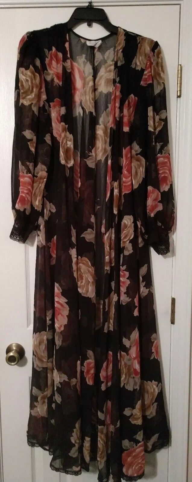 Lucie Ann Vintage Floral Sheer Size Small  - image 1