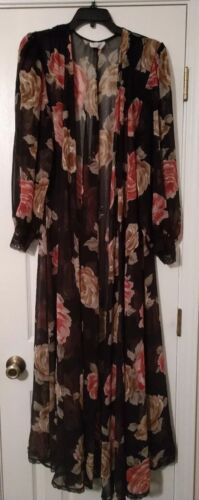Lucie Ann Vintage Floral Sheer Size Small