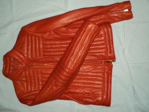 Gucci Tom Ford Era Jacket Leather 50it Orange