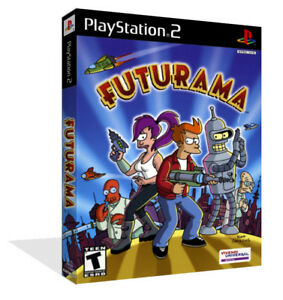 Futurama Ps2 Playstation 2 Dvd Game Box Case Cover Art Work No