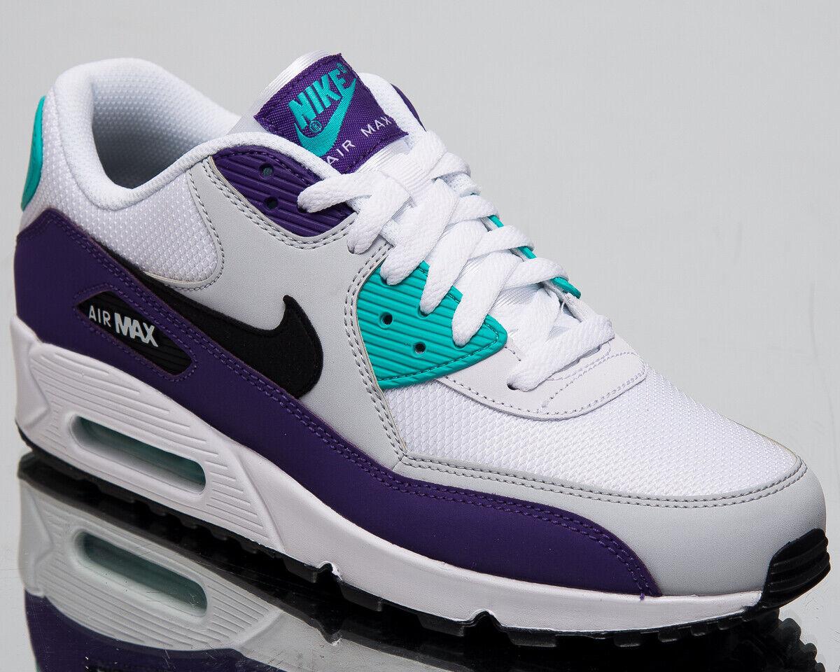 on sale 46898 1e5c2 Nike Air Max 90 Essential Grape Men s New White Purple Sneakers AJ1285-103