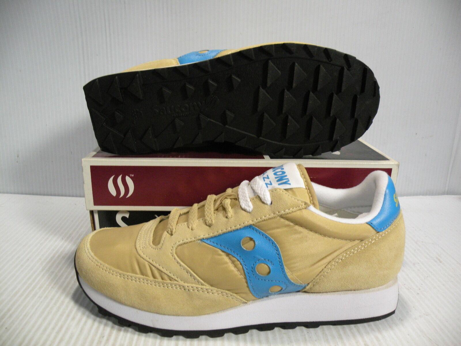 Saucony Jazz Original Baja Baja Baja Zapatillas De Mujer Zapatos Beige Azul 1044-125 Talla 10 Nuevo  ordene ahora los precios más bajos