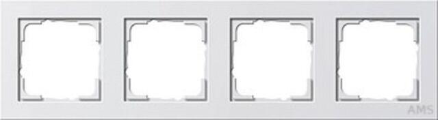 Gira 021429 Cover Frame 4 x E2 Pure White Glossy