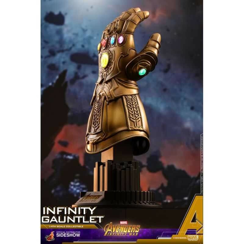 "1 4 INFINITY GAUNTLET THANOS THE AVENGERS INFINITY WAR HT903359 HOT TOYS ""LED"""