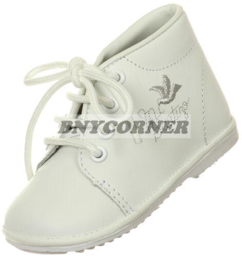 Boys Infant Mi Bautizo White Leather Shoes Dress Church Wedding Holy Communion