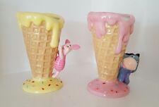 Disney Eeyore y tazones de cono de helado de los lechones Waffle