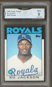 GMA 9 Mint BO JACKSON 1986 TOPPS TRADED ROOKIE Card #50T ROYALS LEGEND!