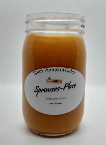 Sprouses Place Spicy Pumpkin Cider Scented Single Wick Scented Jar Candle 16oz