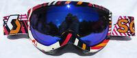 $110 Scott Womens Reply Ladies Pink White Mirror Lens Ski Goggles Snow Smith