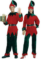 Adult Deluxe Santas Helper Elf Christmas Costume Toyshop Worker Size Xl