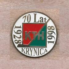 ZAWSZE KTH KRYNICA 70 YEAR ANNIVERSARY HOCKEY CLUB POLAND OFFICIAL PIN