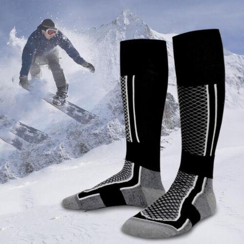 Men Long Thick Thermal Snow Ski Hiking Outdoor Winter Sport Socks Snowboard Warm
