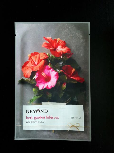 Beyond Herb Garden Hibiscus Face Mask Sheet Pack Moisturized Korean Cosmetics